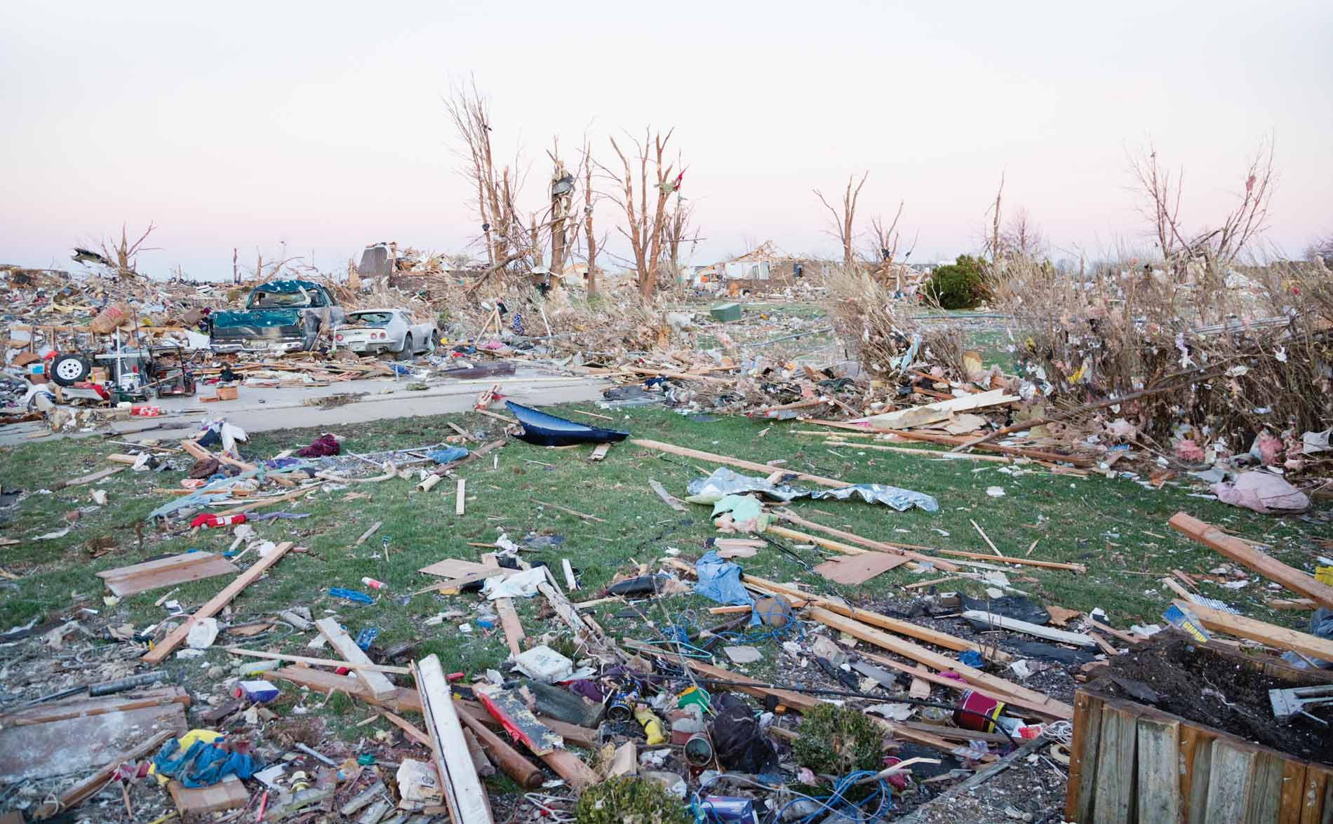 Picture of tornado damage