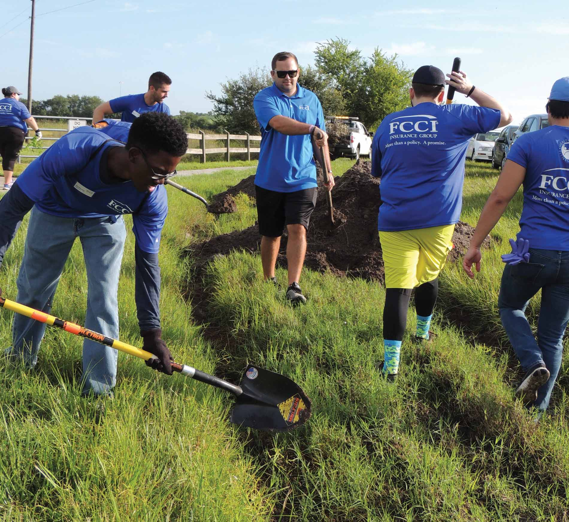 Image of FCCI team volunteering at the Celery Fields in Sarasota